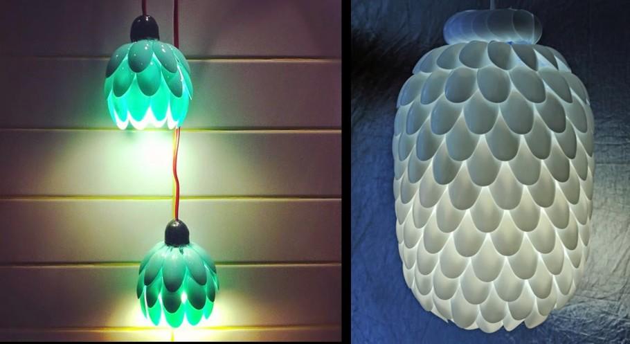 Luminária de colheres