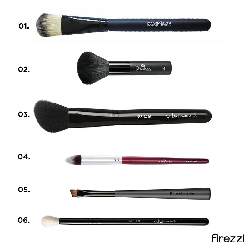 Tipos de pincéis de maquiagem