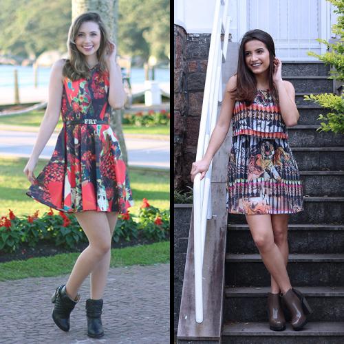Vestido e bota formam uma combinação perfeita