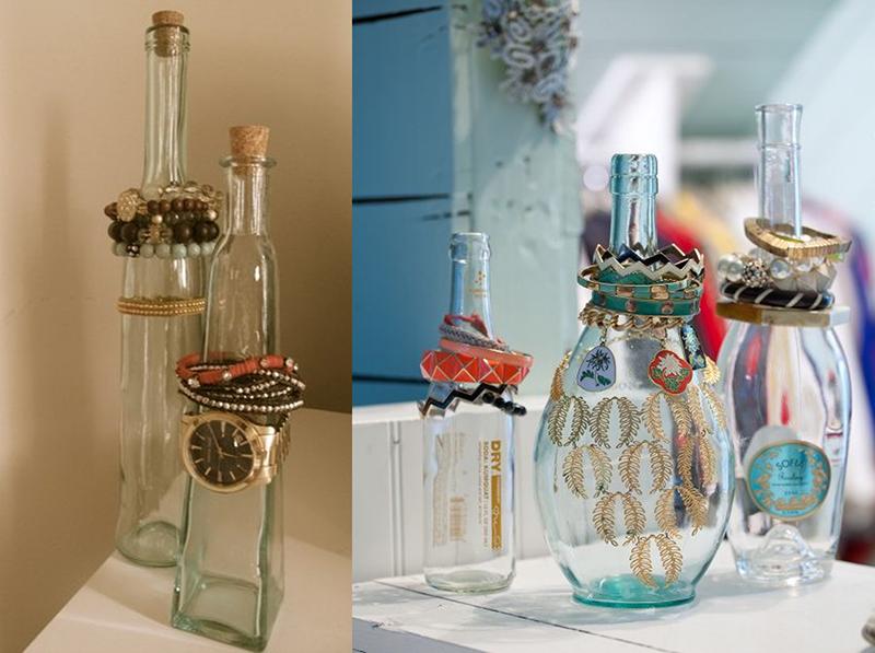 Garrafas decorativas para guardar anéis e relógios
