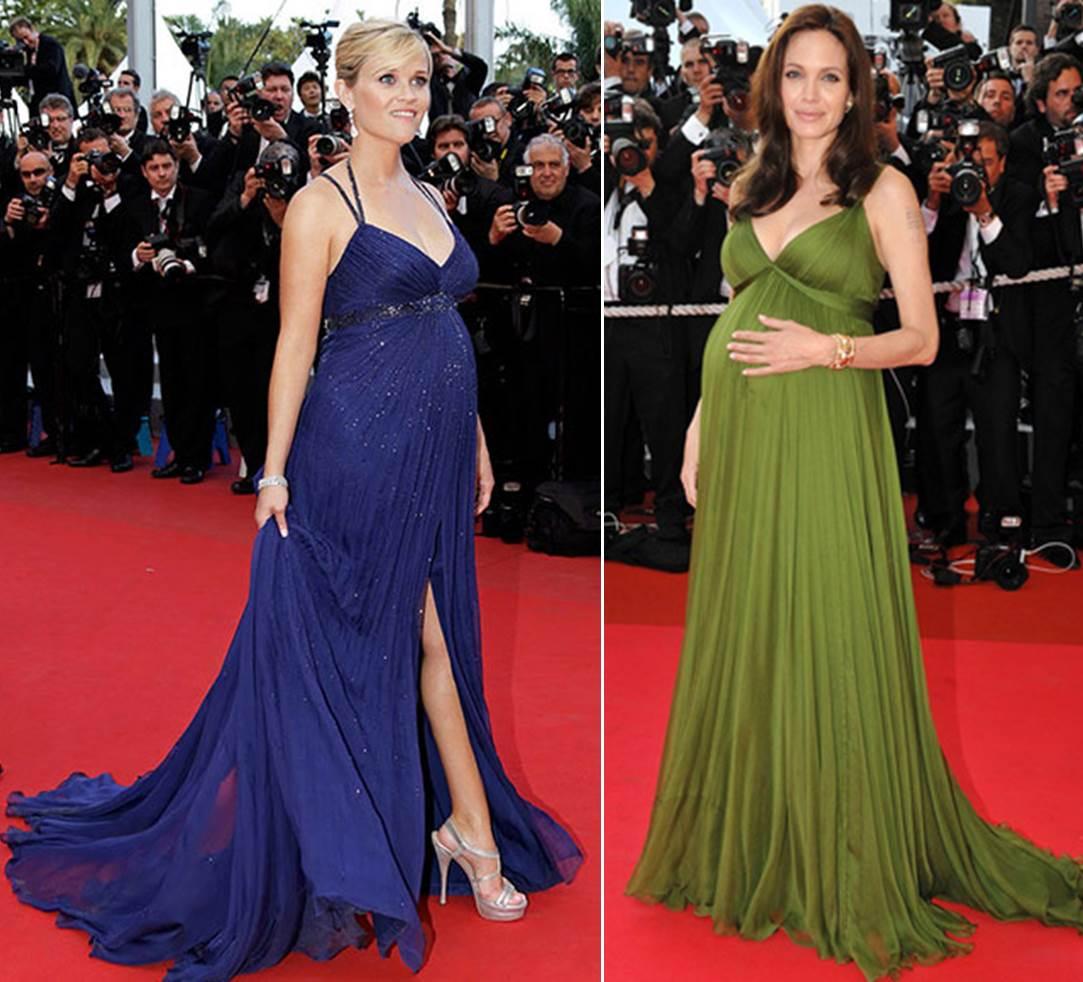 Reese Whiterspoon e Angelina Jolie são exemplos de mamães que arrasaram nos tapetes vermelhos de eventos como premiéres de filmes, o Festival de Cannes e até os Oscars