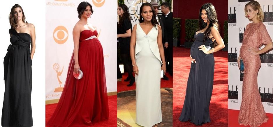 Diversas atrizes e modelos, que costumam usar looks de designers cobiçados e marcas sofisticadas, investem nos cortes imperiais nos meses de gravidez