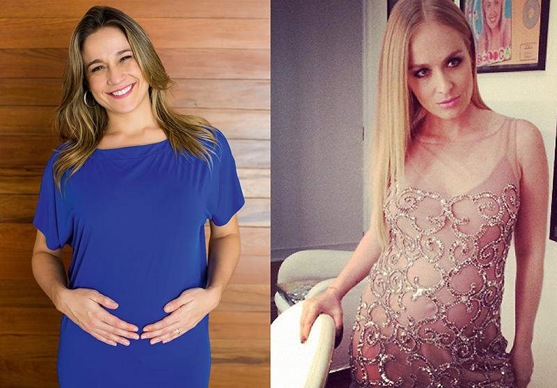 Aqui, Angélica e Fernanda Gentil misturam a elegância com conforto para o aguardo dos pequeninos
