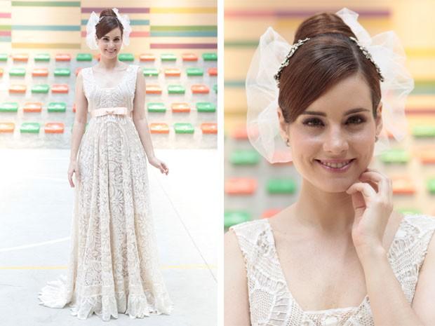 Elisa Pinheiro ficou lindíssima com esse vestido, não?