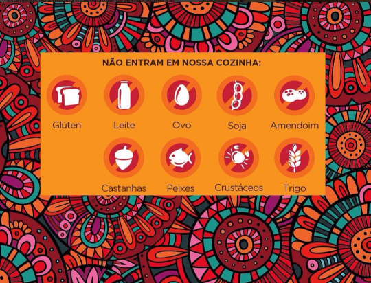 A Mandala é rigorosa com o que é utilizado em seus alimentos