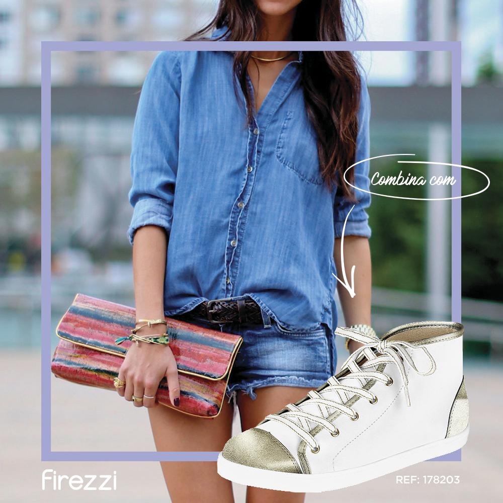 Os tênis brancos da Firezzi vão te conquistar!