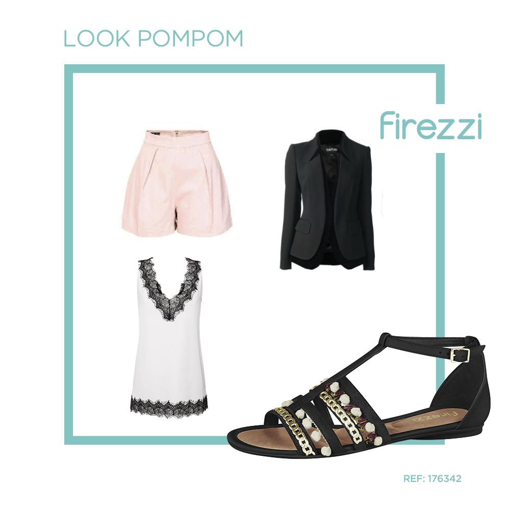 Combine sua sandália Firezzi com peças mais sóbrias, como alfaiataria