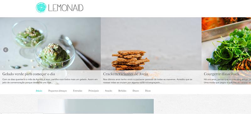 Blog com receitas variadas saudavel e delicioso lemonaid