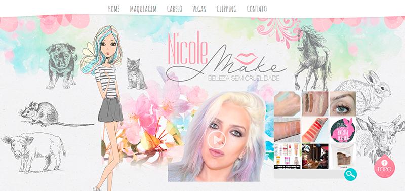 Nicole Make Beleza sem crueldade