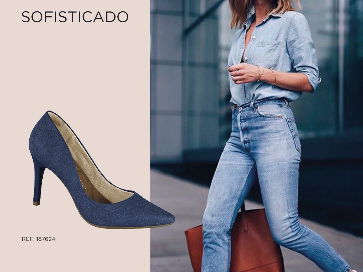 sofisticado - scarpin jeans - firezzi - sapatos