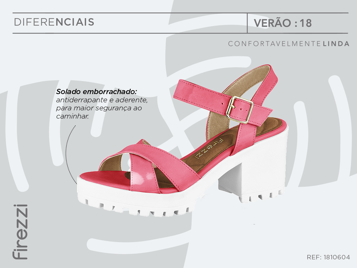 solado-emborrachado - tratorado rosa sandalia confortavel