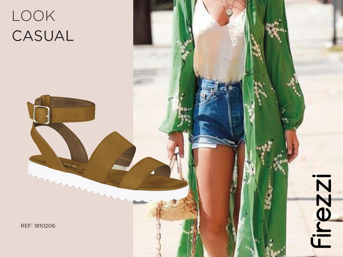 casual kimono verde short jeans firezzi rasteirinha como usar